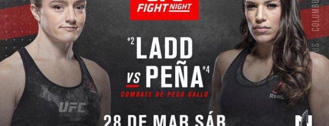 Aspen Ladd treft Julianna Peña tijdens UFC on ESPN 8 in Columbus