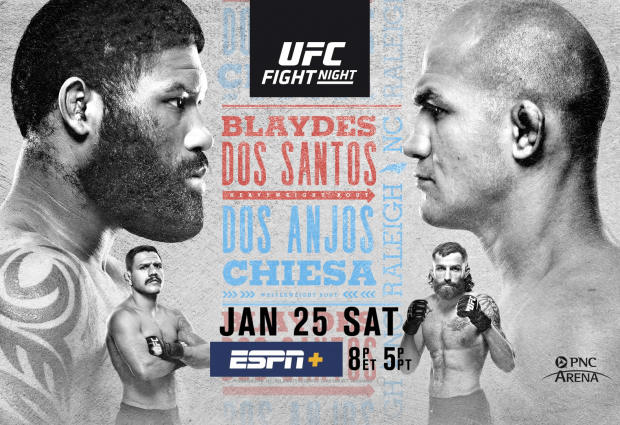 Uitslagen : UFC on ESPN+ 24 Raleigh : Blaydes vs. Dos Santos