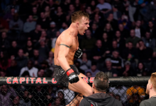 Cody Stamann treft Raoni Barcelos tijdens UFC on ESPN 8 in Columbus