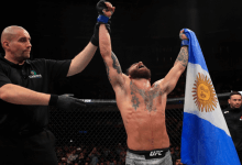 Guido Cannetti treft Danaa Batgerel tijdens UFC 248 in Las Vegas