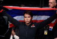 Loma Lookboonmee treft Jinh Yu Frey tijdens UFC evenement op 3 oktober