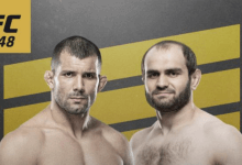 BJJ wizard Rodolfo Vieira treft Saparbeg Safarov tijdens UFC 248 in Las Vegas