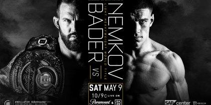 Ryan Bader verdedigt Bellator Light-Heavyweight titel tegen Vadim Nemkov