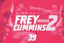Uitslagen : Invicta FC 39 : Frey vs. Cummins 2