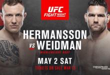 Chris Weidman vs. face Jack Hermansson toegevoegd aan lange annuleringslijst
