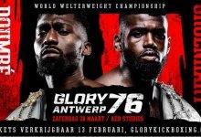Nieuwe partijen GLORY 76 in Antwerpen (inclusief Zouggary vs. Boynazarov)