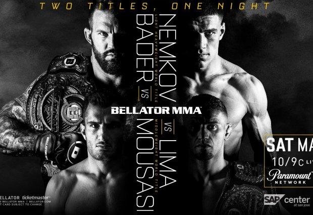 Gegard Mousasi treft Douglas Lima voor vacante Middleweight titel tijdens Bellator San Jose