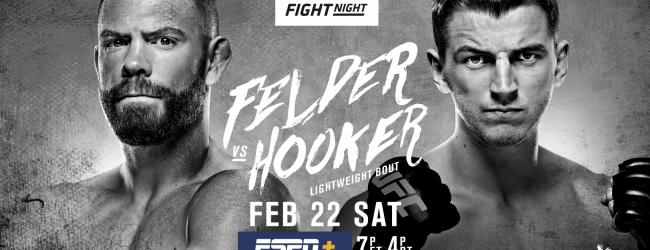 Uitslagen : UFC on ESPN+ 26 Auckland : Felder vs. Hooker