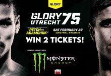 Win 2 kaarten voor GLORY 75 in Utrecht!!