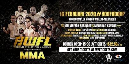 Uitslagen : WFL MMA : Van Suijdam vs. Kavand