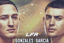Justin Gonzales vs. Steve Garcia voor vacante Featherweight titel tijdens LFA 85