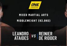 Reinier de Ridder pakt overwinning en titleshot na zware partij tegen Leandro Ataides