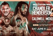 Bellator 244 in Chicago, Illinois met onder meer Chandler vs. Henderson & Caldwell vs. McKee
