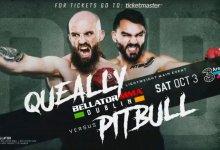 Peter Queally vs. Patricky Pitbull tijdens Bellator Dublin