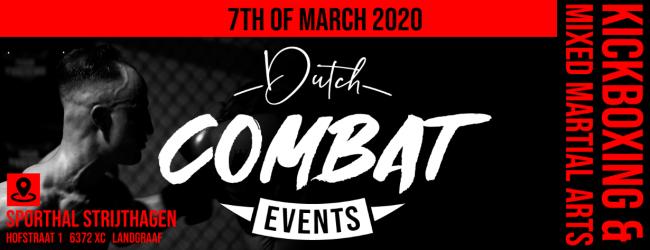 LIVE UITSLAGEN : Dutch Combat Events 1 : Van Lier vs. Belali