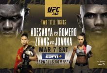 Uitslagen : UFC 248 : Adesanya vs. Romero
