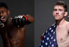 Aljamain Sterling treft Cory Sandhagen tijdens UFC 250
