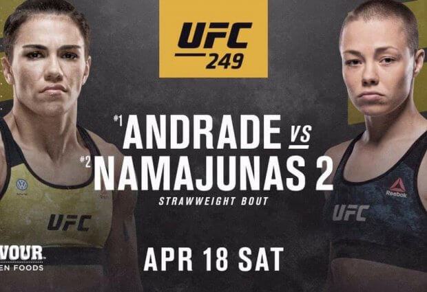 Rose Namajunas laat UFC 249 aan haar voorbij schieten