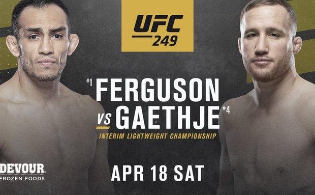 Interim Lightweight titel op het spel tussen Tony Ferguson en Justin Gaethje tijdens UFC 249