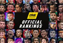 ONE Championship introduceert officiële rankings