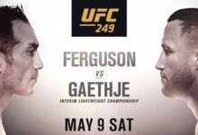UFC kondigt evenementen aan voor 9 mei, 13 mei en 16 mei aanstaande