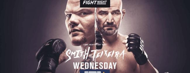 Uitslagen : UFC on ESPN+ 29 Jacksonville : Smith vs. Teixeira