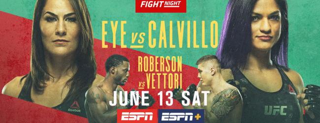 Uitslagen : UFC on ESPN 10 : Eye vs. Calvillo