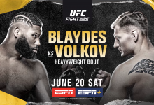 Uitslagen : UFC on ESPN 11 : Blaydes vs. Volkov