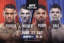 Uitslagen : UFC on ESPN 12 : Poirier vs. Hooker