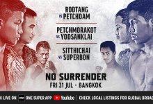 Uitslagen : ONE Championship 110 : No Surrender