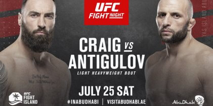 Paul Craig treft Gadzhimurad Antigulov op 25 juli in Abu Dhabi