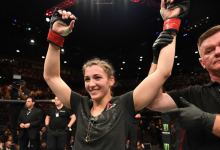 Montana De La Rosa treft Maryna Moroz tijdens UFC evenement op 5 september
