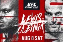 UFC evenement op 8 augustus aanstaande compleet met 11 gevechten