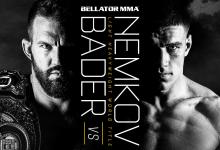 Ryan Bader verdedigt Light-Heavyweight titel tegen Vadim Nemkov tijdens Bellator 244