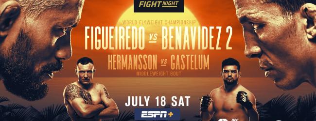 Uitslagen : UFC on ESPN+ 30 Abu Dhabi : Figueiredo vs. Benavidez 2