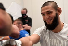Khamzat Chimaev pakt winst met één klap