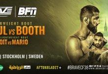 Uitslagen : Brave CF 38 : Abdouraguimov vs. Booth