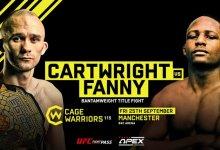 Gerardo Fanny vecht voor Cage Warriors Bantamweight titel tegen Jack Cartwright