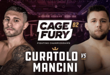 Uitslagen : CFFC 82 : Curatolo vs. Mancini
