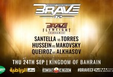 Uitslagen : Brave CF 42: Santella vs. Torres
