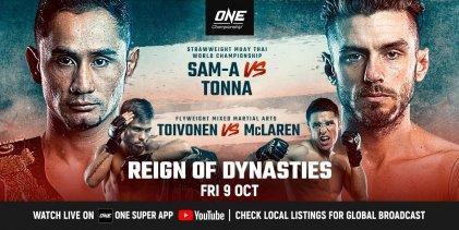 ONE Championship maakt headliners van Reign of Dynasties bekend