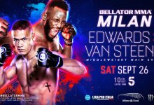 Complete line-up Bellator MMA Milan bekend
