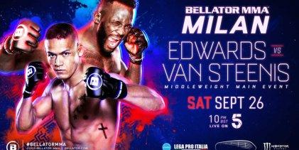 Complete line-up Bellator MMA Milan bekend