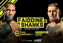 Uitslagen : Cage Warriors 114 : Faiddine vs. Shanks