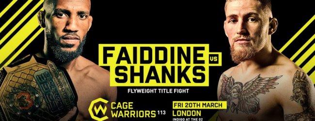 Uitslagen : Cage Warriors 114 : Faiddine vs. Shanks