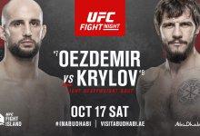 Volkan Oezdemir vs. Nikita Krylov op 17 oktober in Abu Dhabi