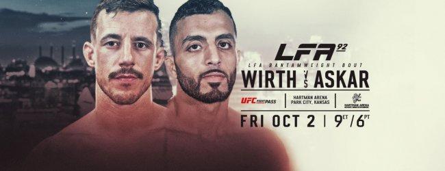 LFA keert op 2 oktober terug met Wirth vs. Askar