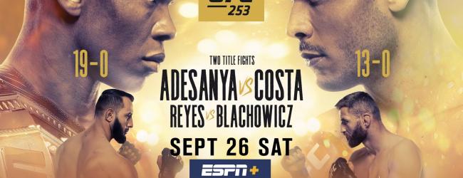 Uitslagen : UFC 253 : Adesanya vs. Costa