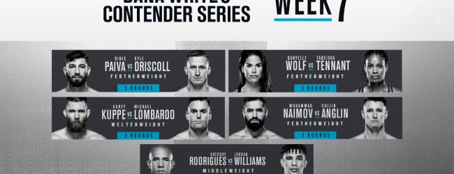Uitslagen : DWCS Season 4 Week 7 : Rodrigues vs. Williams