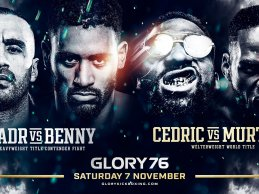 GLORY 76 aangekondigd met Badr vs Benny en Doumbé vs Groenhart